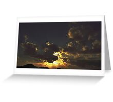 Sunset & Clouds Greeting Card