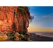 Encinitas Beach at Sunset Photographic Print