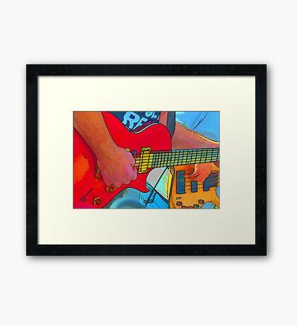 Red Fury Framed Print