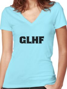 GLHF Women's Fitted V-Neck T-Shirt