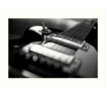 Guitar - Black White Art Print