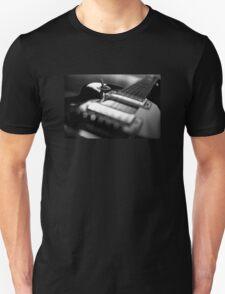 Guitar - Black White Unisex T-Shirt