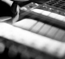 Guitar - Black White Sticker