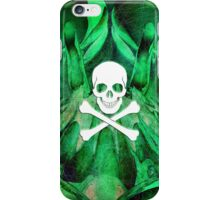 Skull and crossbones  danger warning poison green iPhone Case/Skin