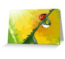Beautiful ladybug Greeting Card