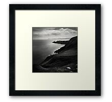 Black Water White Stone Framed Print