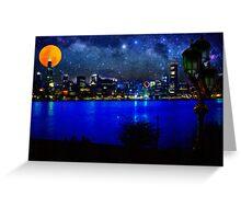 chicago at full moon Greeting Card