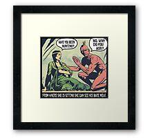 Humorous Vintage Comics- Bear Meat Joke Framed Print