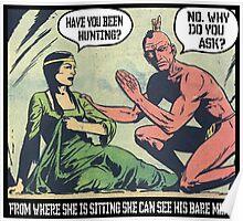 Humorous Vintage Comics- Bear Meat Joke Poster