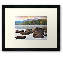 Eagle lake in acadia national park Framed Print