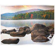 Eagle lake in acadia national park Poster