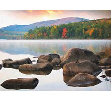 Eagle lake in acadia national park Photographic Print