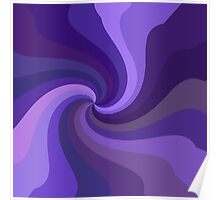Purple Twirl Poster