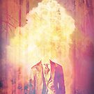 Headless exploding man, in the forest by mikath