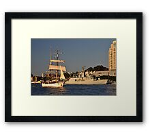 Fleet Review Ships - Old And New, Australia 2013 Framed Print