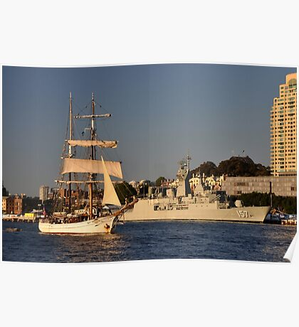 Fleet Review Ships - Old And New, Australia 2013 Poster