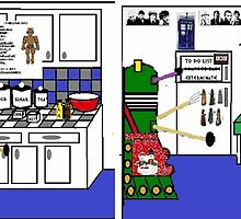 Doctor Who Christmas Dalek Cartoon by loanro33