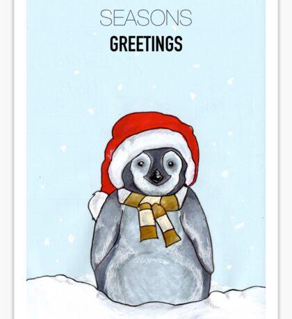 Winter Penguin  Sticker