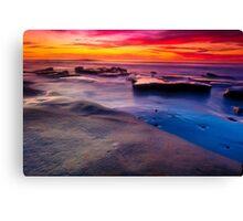 Sunset in La Jolla California Canvas Print