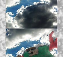 Crab Monster in Clouds by jonsanders