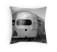 Classic Airstream Caravan.  Throw Pillow