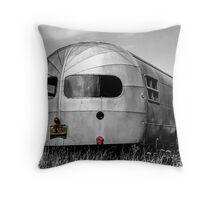 Classic Airstream Caravan.  Throw Pillow