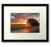 End of a Wet Summer Framed Print