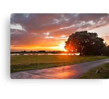 End of a Wet Summer Canvas Print