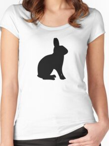 Britannia Petite Rabbit Silhouette Women's Fitted Scoop T-Shirt