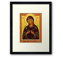 Eastern Orthodox Iconography the mother Framed Print
