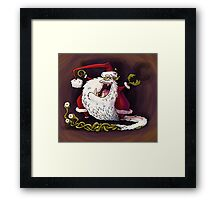 santa claws revisited Framed Print