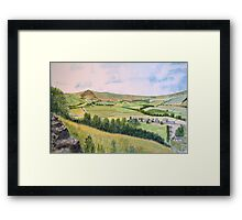 Mam Tor. Peak district.  by John Rees Framed Print