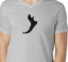 Jawbone Pattern Mens V-Neck T-Shirt