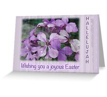 Happy Easter Greeting Card - Luneria Flowers Greeting Card