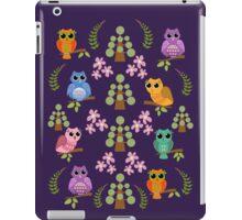 Cute owls, trees, flowers and leaves iPad mini case iPad Case/Skin