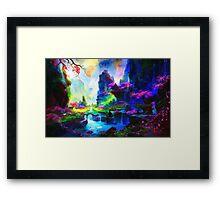 fantasy valley 4 Framed Print