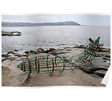 Zeppelin Crash @ Sculptures By The Sea 2012 Poster