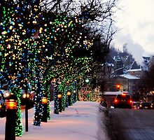 Montreal - ChristmasTime on Mc Gill. by Jean-Luc Rollier