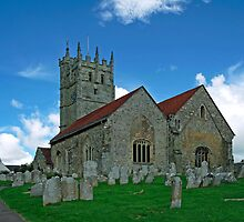 St Mary's Church, Carisbrooke  by Rod Johnson