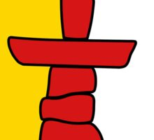 Flag of Nunavut - High quality authentic HD version Sticker