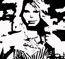 Taylor Swift Black and White Artwork by Double-T