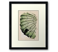 green wing Framed Print