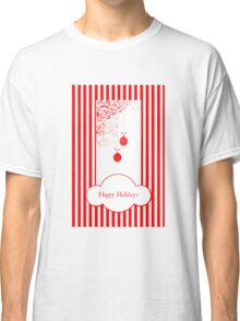 Happy Holidays (Candy Cane Version) Classic T-Shirt