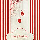 Happy Holidays (Candy Cane Version) textured by Denise Abé