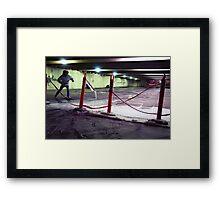 Safety Skate Framed Print
