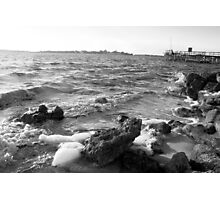 Black and White Sunset Photographic Print