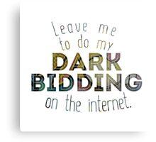 Dark Bidding on the Internet Metal Print
