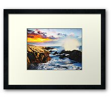 foamy seaside Framed Print
