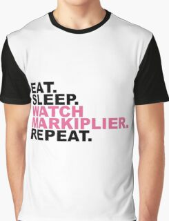 EAT, SLEEP, MARKIPLIER, REPEAT. Graphic T-Shirt