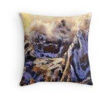 Red Rock Snow Squall Throw Pillow